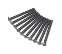 Ronda de metal Machine Head Tornillo hexagonal M3x30-10pcs / set