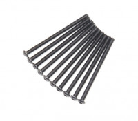 Ronda de metal Machine Head Tornillo hexagonal M3x50-10pcs / set