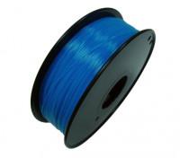 HobbyKing 3D Filamento impresora 1.75mm PLA 1kg Carrete (fluorescente azul)