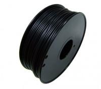 HobbyKing 3D Filamento impresora 1.75mm HIPS 1kg Carrete (Negro)