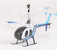 HK189 - 2.4G Escala Hughes 500 Helicóptero coaxial Policía - M2