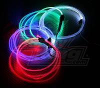 La fibra óptica se enciende para el vuelo de la noche (azul)