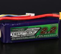 Turnigy nano-tech 2200mah 4S 45 ~ 90C Lipo Pack de