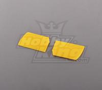 450 Tamaño Heli Flybar Paddle amarillo (par)