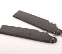 105 mm TIG fibra de carbono lámina de la cola