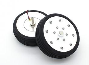 """El Dr. MadThrust 3.25 """"/ 81.5mm principal Ruedas con sistema de frenos Electro Magnética (2 piezas)"""