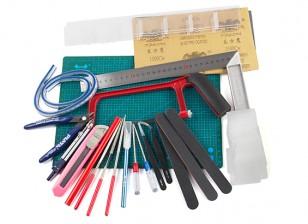 21pcs Hobby Tools Set w/ Cutting Matt and Storage Box