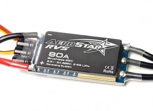 Aerostar RVS 80A Electronic Speed Controller Front