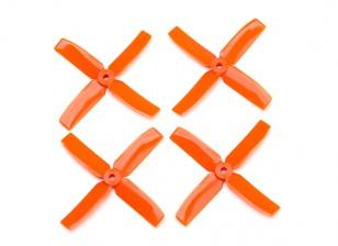 Dalprop Q4040 Bull Nose 4 Blade Propellers CW/CCW Set Orange (2 pairs)