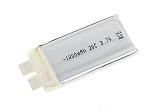 Turnigy 1000mAh 20C Lipo 1S (Single Cell)