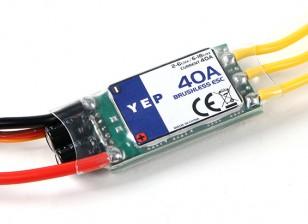 Hobbyking YEP 40A (2 ~ 6S) regulador de la velocidad sin escobillas SBEC