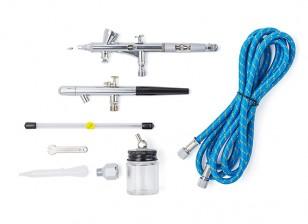 Kit de doble acción profesional del aerógrafo