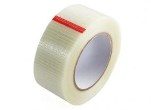 Alta resistencia a cuadros de fibra de cinta. 50mm x 50m