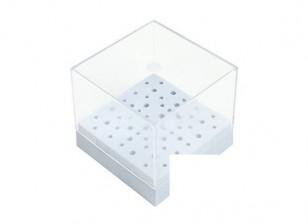 Herramienta Zona de almacenaje del envase con tapa