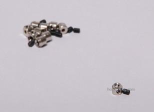 Tren de aterrizaje de ruedas detiene Set collar 6x2.1mm (10 piezas)