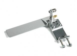 Barco de aluminio CNC timón w / Water Pick-up L95mm x W43mm