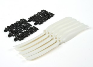 8040 Eléctrico Hélices (blanco) 5pcs / bolsa