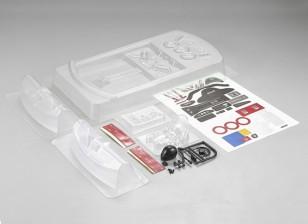 Kit de bañera con motor delantero MatrixLine policarbonato de 1/10 Touring Cars