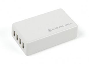 4port 25W / 5A cargador USB (enchufe de la UE)