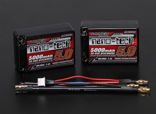 Turnigy nano-tech 5000mah 2S3P 30 ~ 60C Lipo Estuche Saddle Pack (ROAR APROBADO)