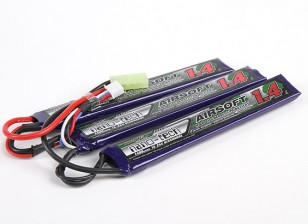 Turnigy nano-tech 1400mah 3S 15 ~ 25C Lipo AIRSOFT Paquete