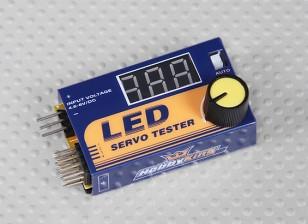 Probador servo Hobbyking LED
