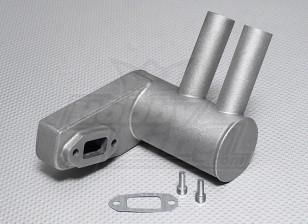 Pitts silenciador para motor de gas 50cc 56cc ~