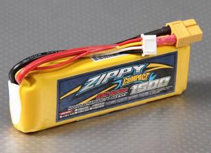 ZIPPY Compacto 1500mAh 3S Lipo 25C Paquete