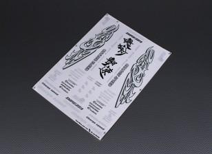 Auto-adhesivo de la etiqueta Hoja - Carga velocidad 1/10 Escala