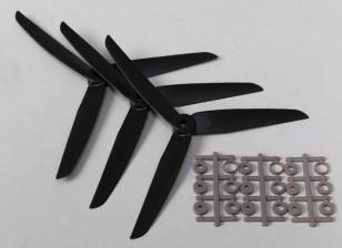 Hobbyking ™ 3 pala de la hélice 7x3.5 Negro (CCW) (3pcs)
