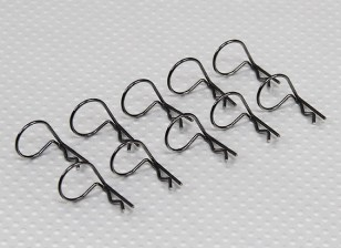 A gran anillo de 90 clips Deg cuerpo (negro) (10 piezas)