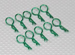 Clips de cuerpo medio-anillo (verde) (10 piezas)