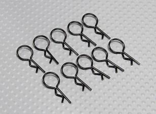 Clips de cuerpo medio-anillo (Negro) (10 piezas)