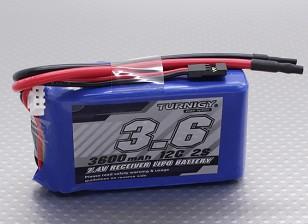 Turnigy 3600mAh 12C Lipo 2S Receptor Paquete