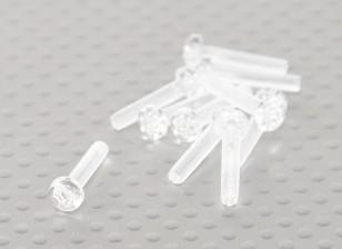 Tornillos de policarbonato transparentes M3x15mm - 10pcs / bag