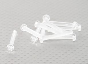 Tornillos de policarbonato transparentes M4x30mm - 10pcs / bag