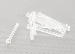 Tornillos de policarbonato transparentes M4x45mm - 10pcs / bag