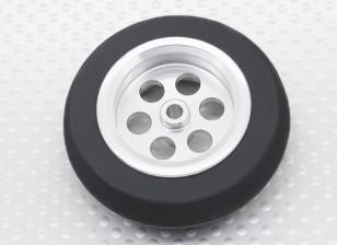 Turnigy Escala Jet aleación de 54 mm de la rueda w / neumático de goma