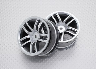 Escala 1:10 alta calidad Touring / deriva de las ruedas del coche RC de 12 mm Hex (2 piezas) CR-GTS