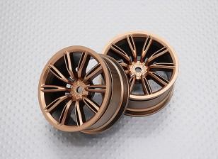 Escala 1:10 alta calidad Touring / deriva de las ruedas del coche RC de 12 mm Hex (2 piezas) CR-VIRAGEG