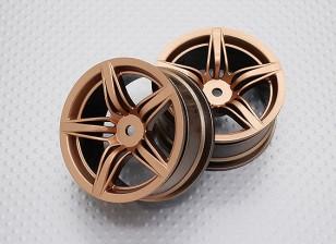 Escala 1:10 alta calidad Touring / deriva de las ruedas del coche RC de 12 mm Hex (2 piezas) CR-F12G