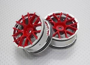 Escala 1:10 alta calidad Touring / deriva de las ruedas del coche RC de 12 mm Hex (2 piezas) CR-CHR