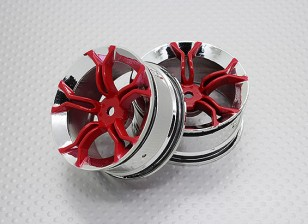 Escala 1:10 alta calidad Touring / deriva de las ruedas del coche RC de 12 mm Hex (2 piezas) CR-MP4R