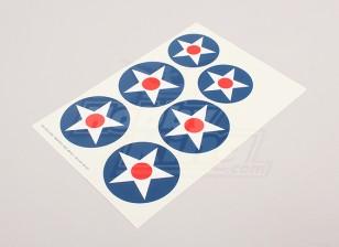 Escala de la hoja de la Fuerza Aérea Nacional insignias Decal - EE.UU. (tipo A)