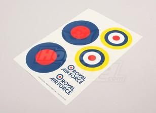 Escala de la hoja de la Fuerza Aérea Nacional insignias Decal - Reino Unido (gran tipo B)