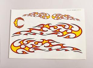 Hoja tribal de la llama de la etiqueta 445mmx300mm grande