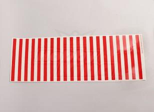 Hoja de etiqueta con el patrón de la raya roja / 590mmx200mm Claro