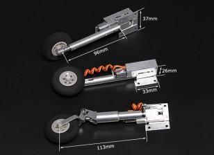 Turnigy Full Metal Servoless retrae con las piernas Oleo (triciclo, tipo F86)