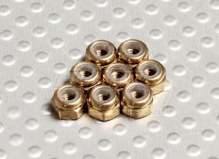 Color titanio anodizado de aluminio M3 Tuercas Nylock (8pcs)