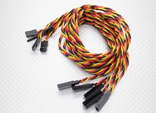 Twisted 80cm Servo cable de prolongación (JR) 22 AWG (5pcs / set)